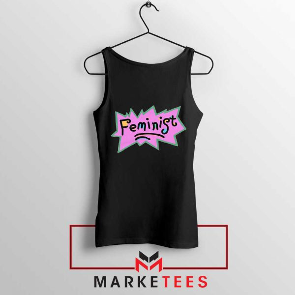 Feminist Rugrats Logo Black Tank Top