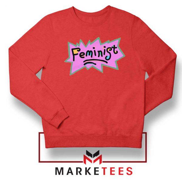 Feminist Rugrats Logo Red Sweatshirt