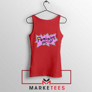 Feminist Rugrats Logo Red Tank Top