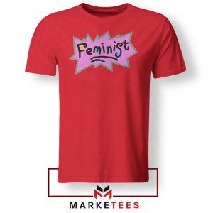 Feminist Rugrats Logo Red Tshirt
