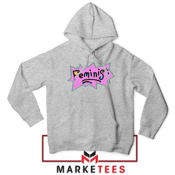 Feminist Rugrats Logo Sport Grey Hoodie