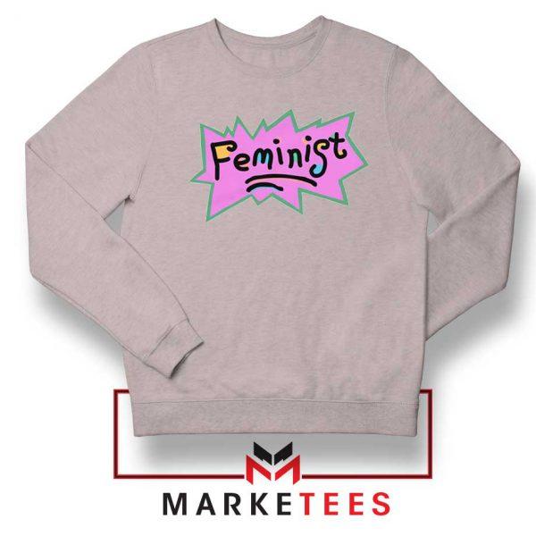 Feminist Rugrats Logo Sport Grey Sweatshirt