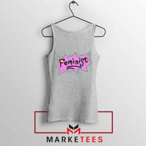 Feminist Rugrats Logo Sport Grey Tank Top