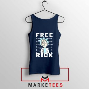 Free Rick And Morty Navy Blue Tank Top