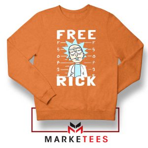 Free Rick And Morty Orange Sweatshirt