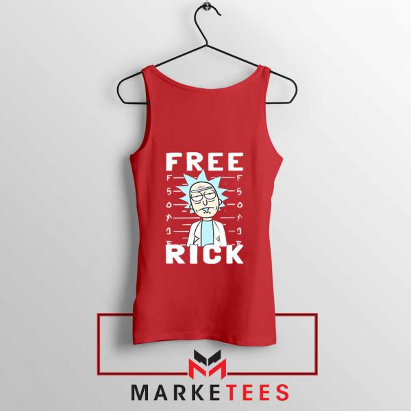Free Rick And Morty Red Tank Top