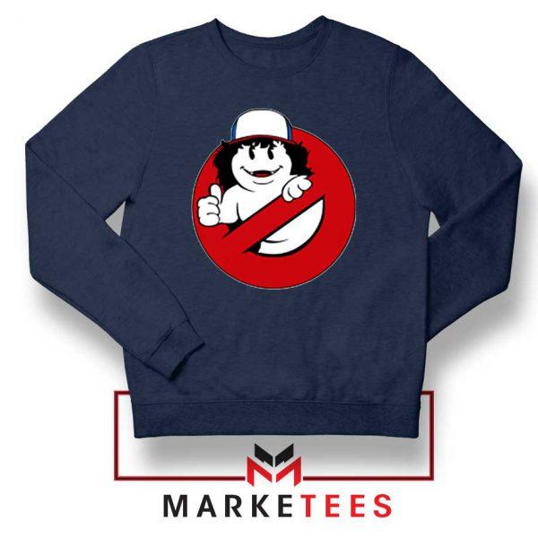 Ghostbusters Parody Dustin Navy Blue Sweatshirt