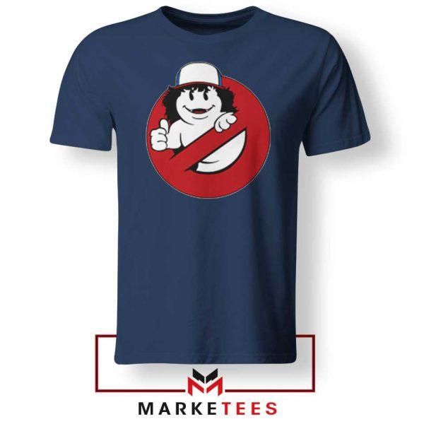 Ghostbusters Parody Dustin Navy Blue Tee Shirt