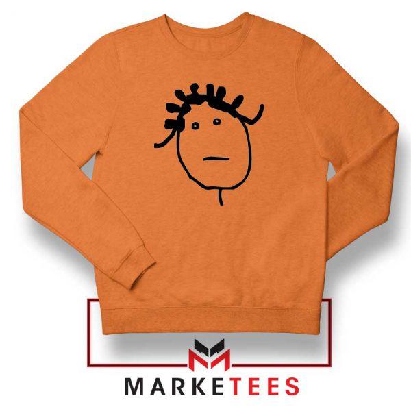 Instagram Icon Rihanna Orange Sweatshirt
