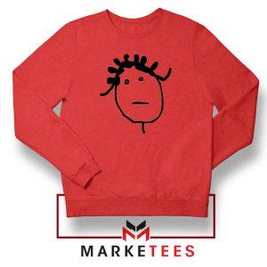 Instagram Icon Rihanna Red Sweatshirt