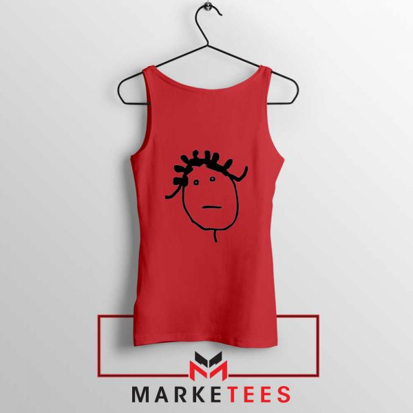Instagram Icon Rihanna Red Tank Top