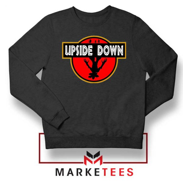 Jurassic Park Upside Down Black Sweater