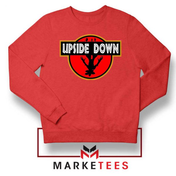 Jurassic Park Upside Down Red Sweater