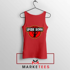 Jurassic Park Upside Down Red Tank Top