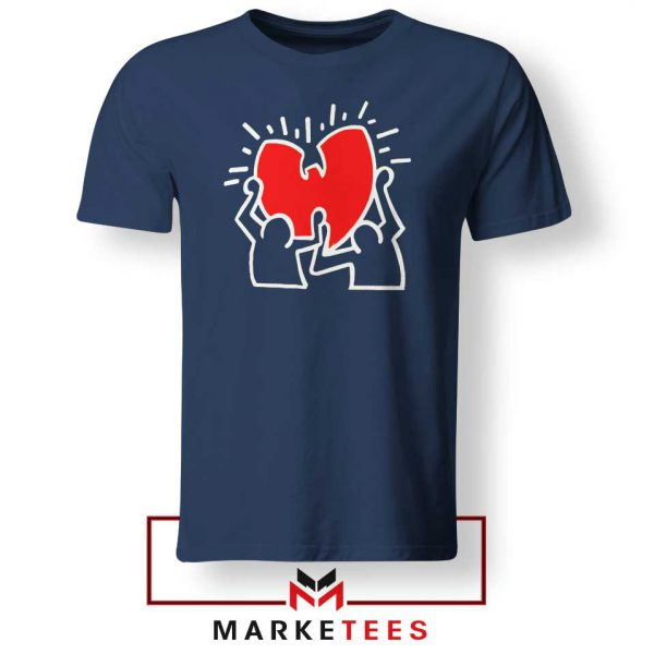Keith Haring Rapper Parody Navy Blue Tshirt