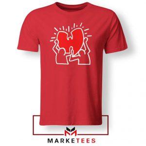Keith Haring Rapper Parody Red Tshirt