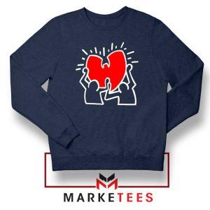 Keith Haring Rapper Parody Navy Blue Sweatshirt