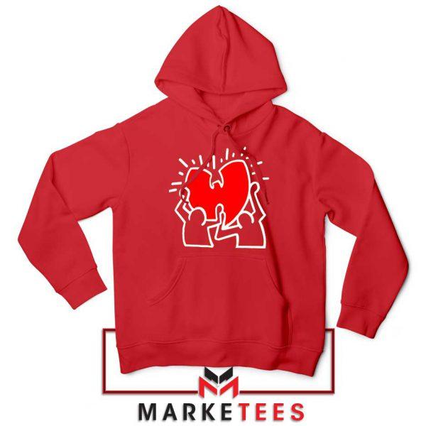 Keith Haring Rapper Parody Red Hoodie