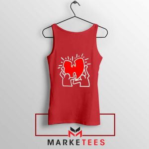 Keith Haring Rapper Parody Red Tank Top