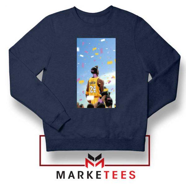 Kobe Bryant Los Angeles Art Navy Blue Sweatshirt