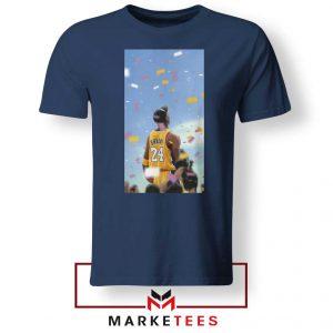 Kobe Bryant Los Angeles Art Navy Blue Tshirt