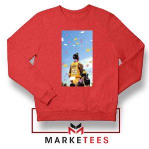Kobe Bryant Los Angeles Art Red Sweatshirt