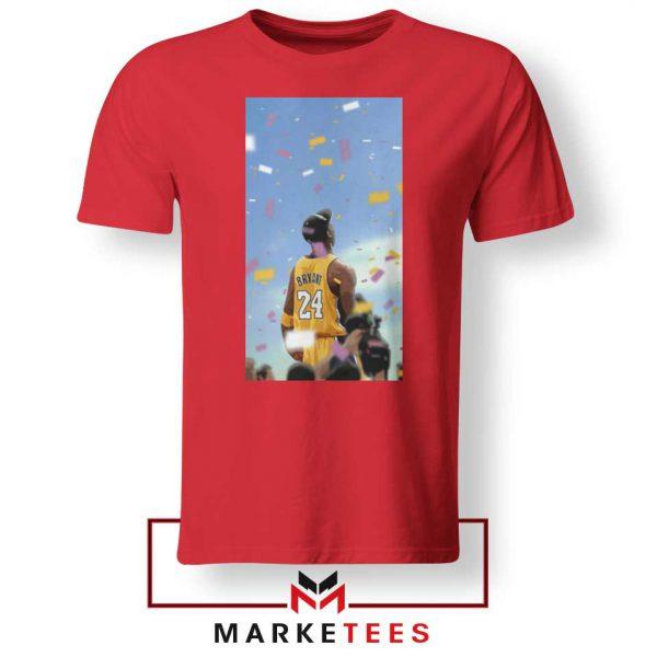 Kobe Bryant Los Angeles Art Red Tshirt