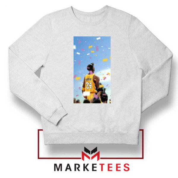 Kobe Bryant Los Angeles Art White Sweatshirt