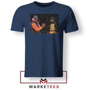 Kobe Bryant Nipsey Hussle Navy Blue Tshirt