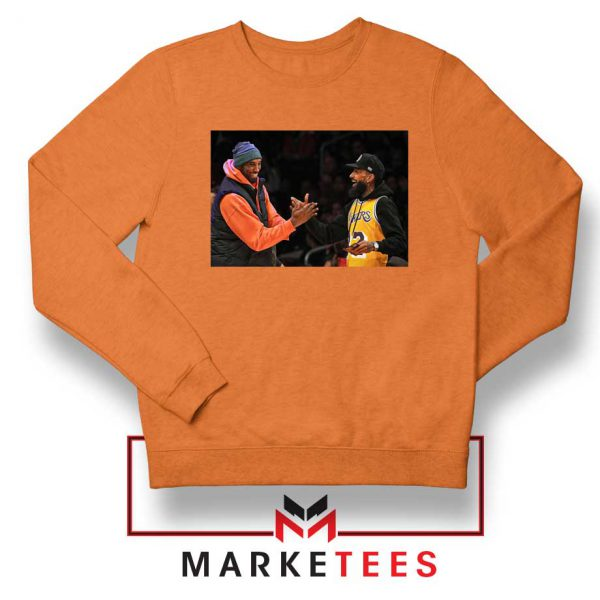 Kobe Bryant Nipsey Hussle Orange Sweatshirt