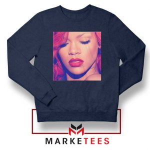 Loud Album Rihanna Navy Blue Sweater
