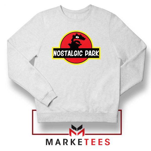 Nostalgic Park Reptar White Sweatshirt