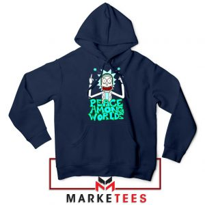 Peace Among Worlds Navy Blue Hoodie