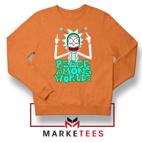Peace Among Worlds Orange Sweatshirt