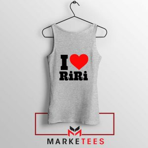 Quote I Love RiRi Sport Grey Tank Top