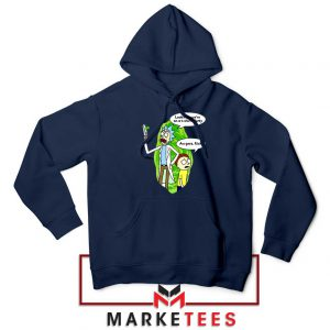 Rick And Morty Looks Like We're On A Phone Navy Blue Hoodie