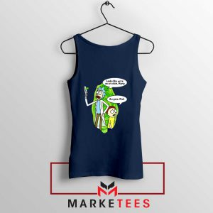 Rick And Morty Looks Like We're On A Phone Navy Blue Tank Top