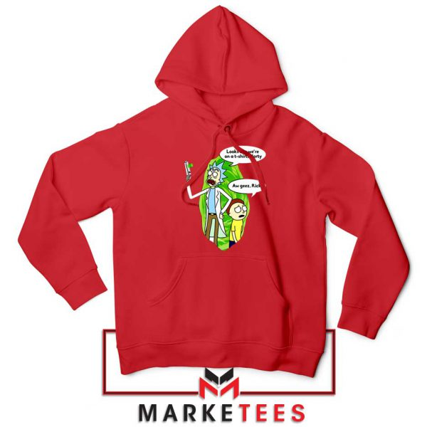 Rick And Morty Looks Like We're On A Phone Red Hoodie