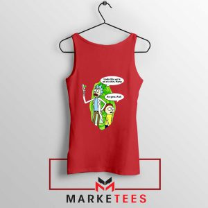 Rick And Morty Looks Like We're On A Phone Red Tank Top