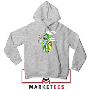 Rick And Morty Looks Like We're On A Phone Sport Grey Hoodie