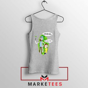 Rick And Morty Looks Like We're On A Phone Sport Grey Tank Top