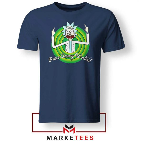 Rick And Morty Peace Among Worlds Navy Blue Tshirt