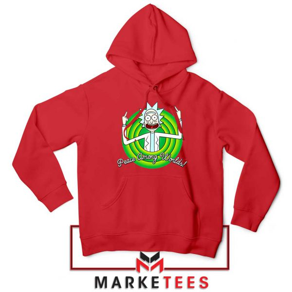Rick And Morty Peace Among Worlds Red Hoodie