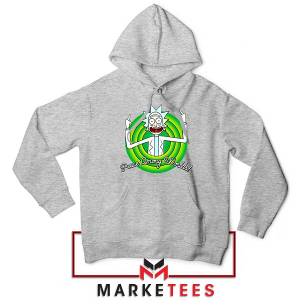Rick And Morty Peace Among Worlds Sport Grey Hoodie