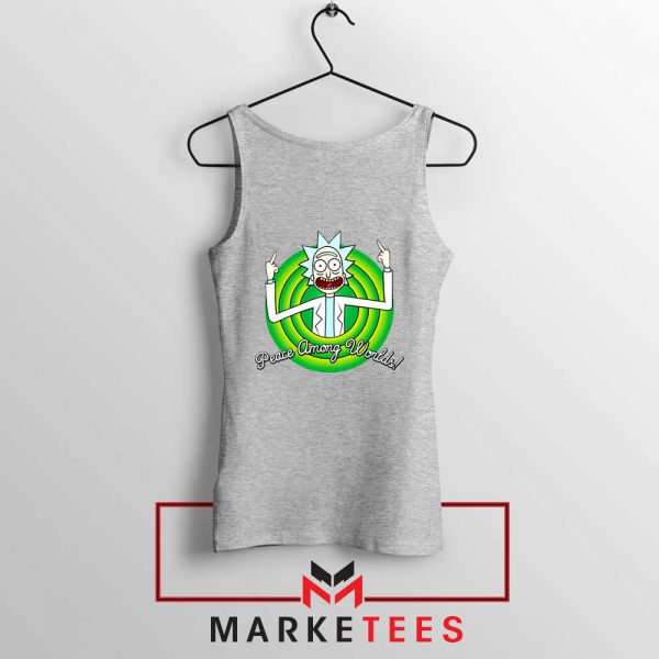 Rick And Morty Peace Among Worlds Sport Grey Tank Top