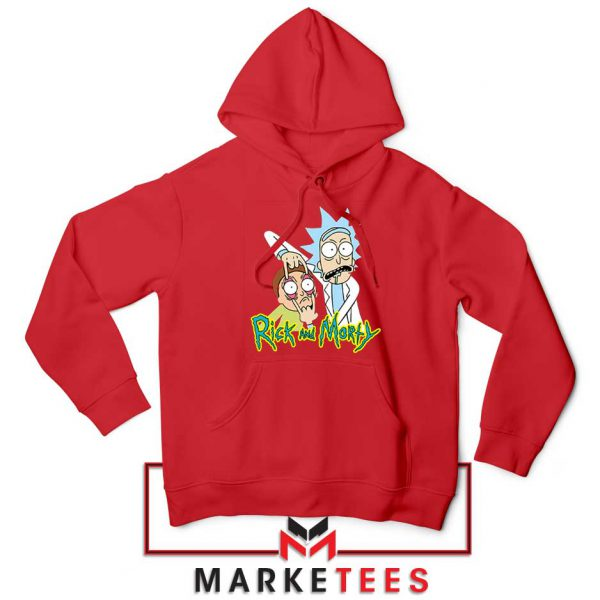 Rick and Morty Eyes Open Red Hoodie