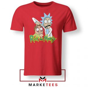 Rick and Morty Eyes Open Red Tshirt
