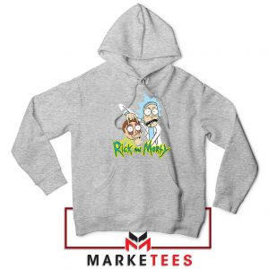 Rick and Morty Eyes Open Sport Grey Hoodie