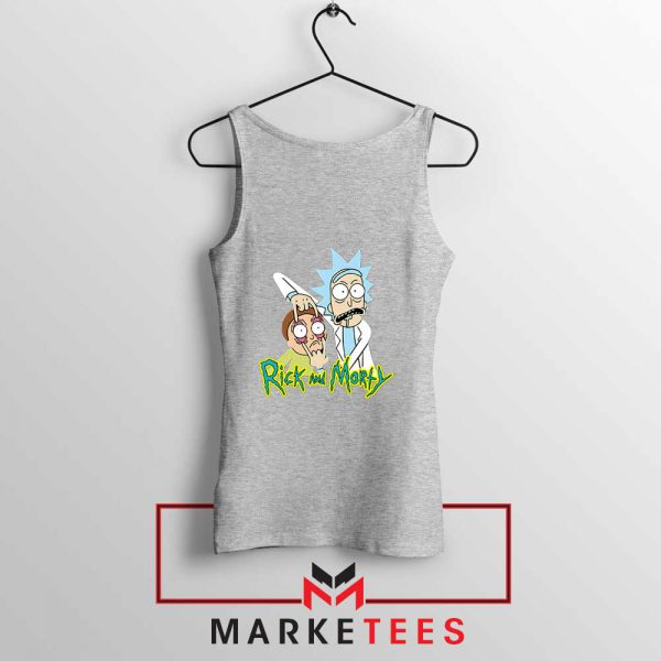 Rick and Morty Eyes Open Sport Grey Tank Top