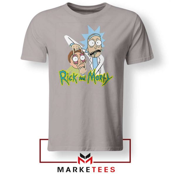 Rick and Morty Eyes Open Sport Grey Tshirt